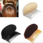 Polytree 3pcs Women's Hair Styler Volume Bouffant Beehive Shaper Bumpits Bump Foam on Clear Comb