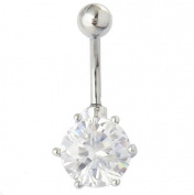 Body Piercing navel Belly Ring Big Cubic Zircon Belly Button Ring 14G Body jewellery lady's gift