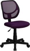 Flash Furniture WA-3074-PUR-GG Mid-Back Purple Mesh Task and Computer Chair