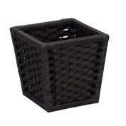 Household Essentials Paper Rope Waste Basket, Black Stain