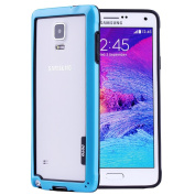 JOTO Galaxy Note 4 Bumper Frame Case - Slim Fit Frame Case Exclusive for Samsung Galaxy Note 4, SM-N910 (2014), Dual Layer Hybrid Bumper Protection Galaxy Note 4 International and Unlocked