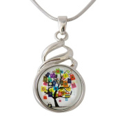 Chunk Snap Metal Pendant and Stainless Steel Necklace 46 cm