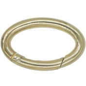Bluemoona 5 Pcs - Gate Oval Ring Rings Snap Clip Trigger Spring 36mm Carabiner