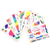 Wisehands Best Special Colour Temporary Tattoos 8 Sheets