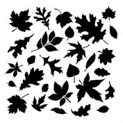Fall Leaves - Pattern Stencil - 30cm x 30cm