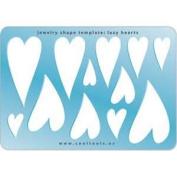 Cool Tools - Jewellery Shape Template - Lazy Hearts