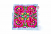 Blue Flower Textiles Hmong Fasionable Style Embroidered From Thailand