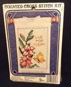 Live for Today Counted Cross Stitch By the New Berlin Co.