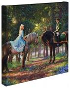 Cinderella Romance Awakens - Thomas Kinkade Studios Disney Gallery Wrapped Canvas