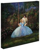 Cinderella Dreams Come True - Thomas Kinkade Studios Disney Gallery Wrapped Canvas