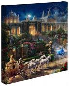 Cinderella Clock Strikes Midnight - Thomas Kinkade Studios Disney Gallery Wrapped Canvas