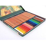 Home Office U.D. - Art Supplies Bulk Painting Professional Water Colour in Tin Coloured Pencils Drawing for Adults 36 Count