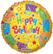 Colourful Birthday Balloons 46cm Mylar Balloon Bulk