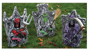 3D Poseable Arms Tombstone Prop, Assorted - Styles Vary
