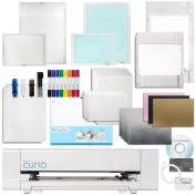 Silhouette Curio Digital Crafting Machine with Large 30cm By 22cm Base, Etching, Stippling, Sketching, Emboss, Pixscan Bundle