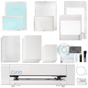 Silhouette Curio Digital Crafting Machine with Large 30cm X 22cm Base and Embossing Bundle