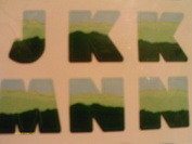 Spring-Torn Paper Layered Letters- Cut Out Letters