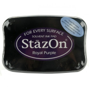 Brand New StazOn Solvent Ink Pad-Royal Purple Brand New