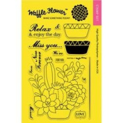 Waffle Flower Crafts Clear Stamps 10cm x 15cm -Potted