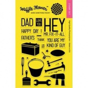 Waffle Flower Crafts Clear Stamps 10cm x 15cm -Hey Mr.