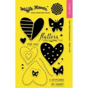 Waffle Flower Crafts Clear Stamps 10cm x 15cm -Flutter