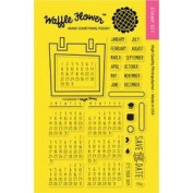 Waffle Flower Crafts Clear Stamps 10cm x 15cm -Calendar