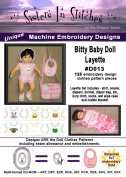 Bitty Baby Doll Layette - In the Hoop - Machine Embroidery Designs