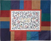 Challa Cover with Embroidery by Emanuel - Colourful