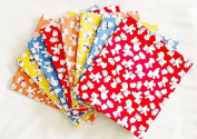 """8 Fat Quarters - """"Dancing Teddy Bears"""" Cotton Fabric Baby Quilt Fat Quarters (Great for Making a Baby Quilt, Quilting, Craft Projects & More) Colourful Fat Quarters X 8"""