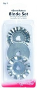Sew Easy Rotary Blade Set - Pinking, Skip And Wave Blades For Quilting/Patchwork