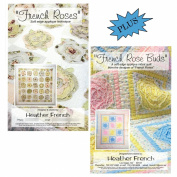 French Roses Quilt Pattern & French Rose Buds Quilt Pattern, Bundle of 2 Items; by Heather French, Unique and Easy Soft (Raw) Edge Applique 140cm Sq. + 80cm x 100cm
