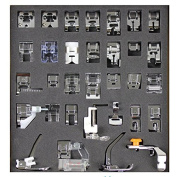 Tinksky A Set of 32pcs Domestic Sewing Machine Presser Foot Feet Set for Brother Babylock New Home Janome Elna Toyata Singer NewHome