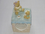 Teddy Bear Tea Party Ceramic Cubed Keepsake Picture Frames
