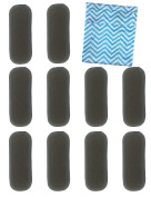 Vlokup Charcoal Bamboo Inserts Reusable Liners for Cloth Nappies 5 Layer