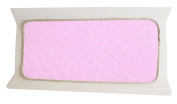 Washable Waterproof Changing Pad Liners Bamboo Fabric Terry Cloth Quilted ♦ Multi Use Portable Changing Mat 2 Pices ♦ MADE IN USA ♦