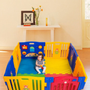 I-choice Baby Kids Playpen 8 Panel Safety Play Centre Yard Home Indoor Outdoor Pen