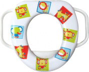 Easy Grip Handles Baby Soft Toilet Potty Trainer Seat Jungle Animals Multicoloured