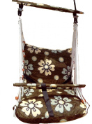 Cotton Cushion Based Living Room Indoor Outdoor Baby Swing Cradle Hammock Gift Item with Safety Belt