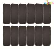 LilBit Baby Cloth Nappy 5 layers Antibacterial Bamboo Bamboo Charcoal Liners Inserts Super Water Absorbent 12pcs