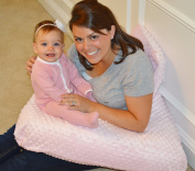 The 4 in 1 One Z PINK Nursing Pillow w/ AMAZING BACK SUPPORT- PINK colour COVER