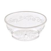 Hanna K. Signature Collection 40 Count D'Vine Plastic Bowl, 180ml, Clear