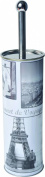 Printed Metal Toilet Bowl Brush with Holder VINTAGE PARIS Grey