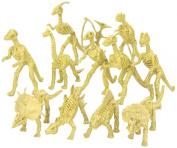 Assorted Dinosaur Fossil Skeleton 13cm - 15cm Figures, 12-Piece