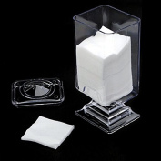 Acrylic Makeup Cotton Pad Nail Art Remover Paper Holder Container Storage Box