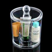 Cosmetic Organiser Makeup Cotton Swab Lipstick Display Holder Case Acrylic Box