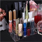 24 Trapezoid Clear Makeup Lipstick Stand Case Cosmetic Organiser Display Holder