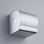 Ouku® Wall Mounted Anodizing Finish Space Aluminium Fully Enclosed Waterproof and Dustproof Toilet Roll Holder