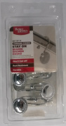 Better Homes and Gardens Chrome Finish Stay On Beaded Shower Hooks, 1 Pack of 12 Hooks