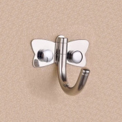 Ouku® Wall Mounted Mirror Polished Stainless Steel Butterfly Hat And Coat Hook Coat Hook