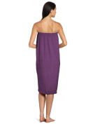 DII Oceanique Women's Microfiber, Machine Washable, Perfect for College Dorm, Pools, Gyms, Beaches, Locker Rooms, Bathroom Shower Wrap, Beach Wrap, Spa Wrap, Bath Wrap, Eggplant